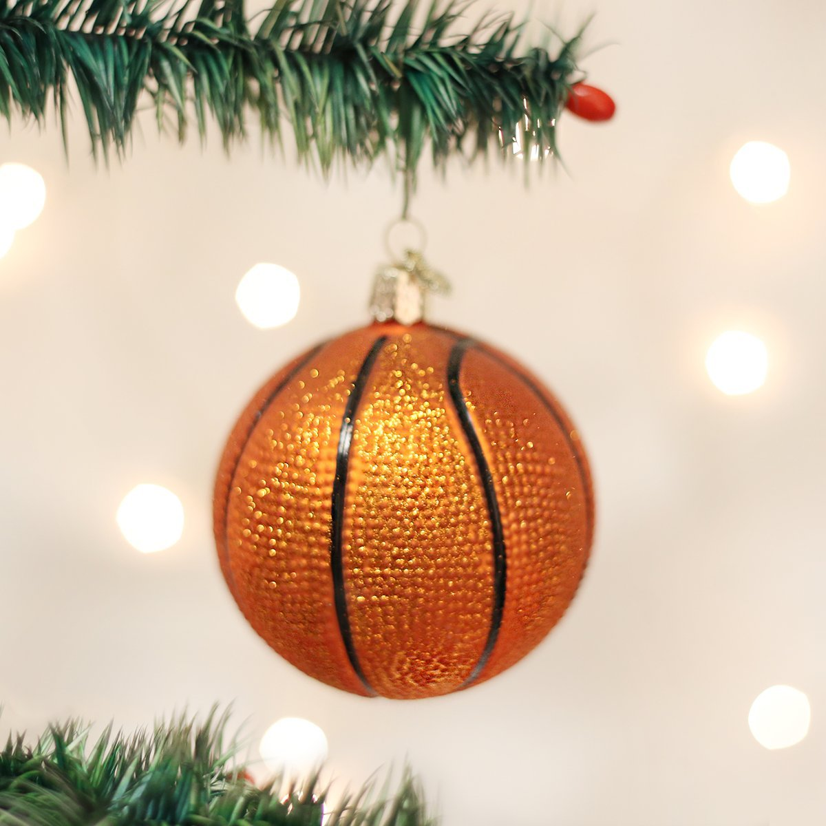Tennis christmas ornaments - Amazon Com Old World Christmas Basketball Glass Blown Ornament Home Kitchen