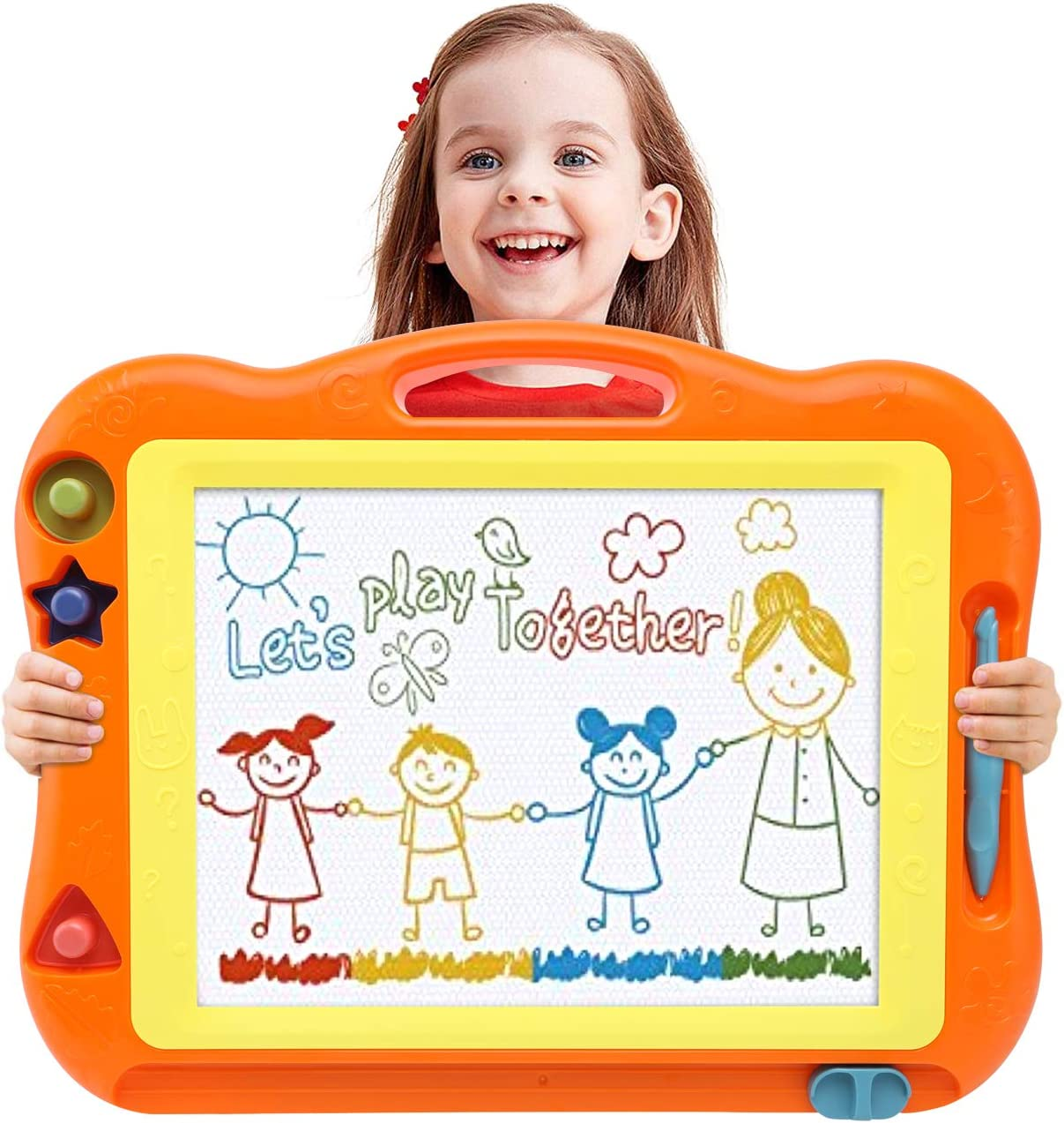 Magnetic Drawing Board Toddler Toys for Boys Girls, 17 Inch Magna Erasable Doodle board for Kids A Colorful Etch Education Sketch Doodle Pad Toddler Toys