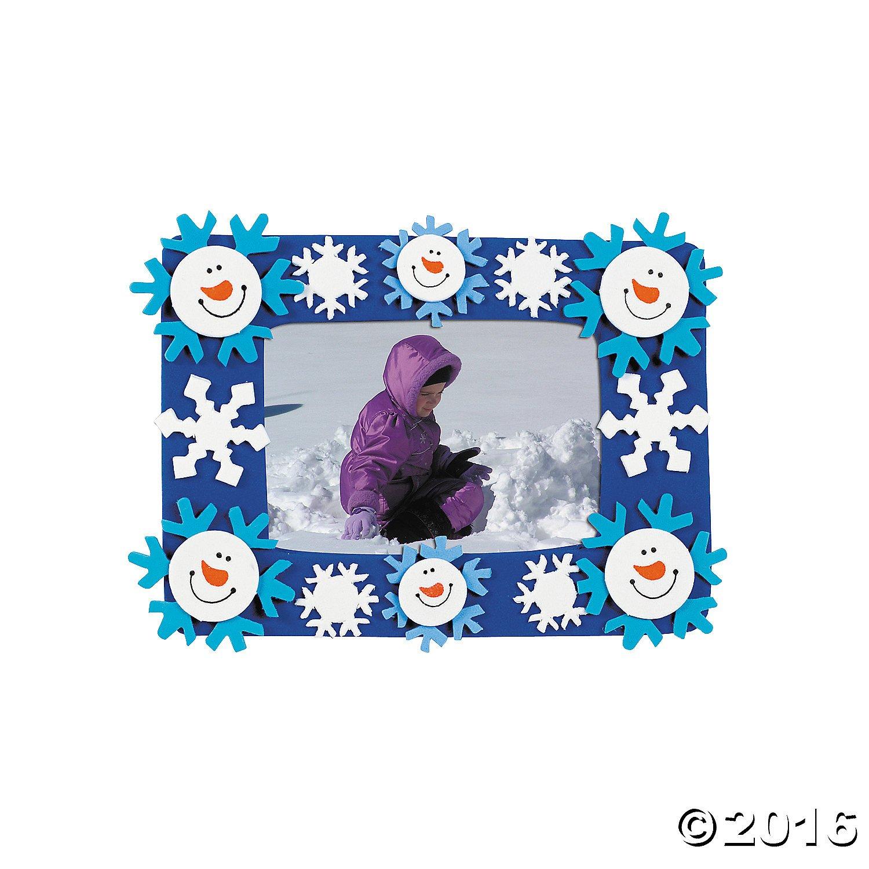 Amazon 12 foam smile face snowman photo frame magnet craft amazon 12 foam smile face snowman photo frame magnet craft kits toys games jeuxipadfo Image collections