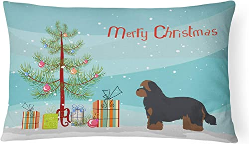 Caroline's Treasures CK3875PW1216 Shorkie 1 Christmas Tree Canvas Fabric Decorative Pillow