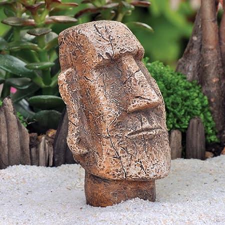 radkell miniatura casa de muñecas isla de Pascua Moai estatua hada Hobbit Gnome jardín: Amazon.es: Hogar