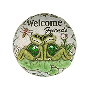 "Comfy Hour 10"" Frog Garden Stepping Stone"