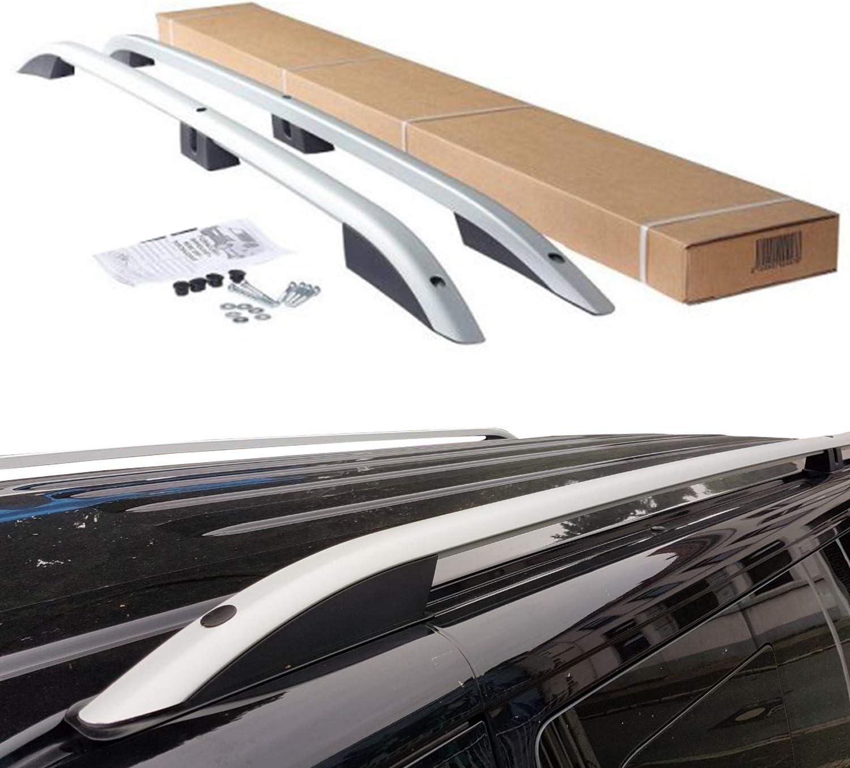 BREMER Fundas de asiento para Volkswagen Caddy, de aluminio, portaequipajes de techo a partir de año de fabricación 2011 – 2019, color: plata mate: Amazon.es: Coche y moto