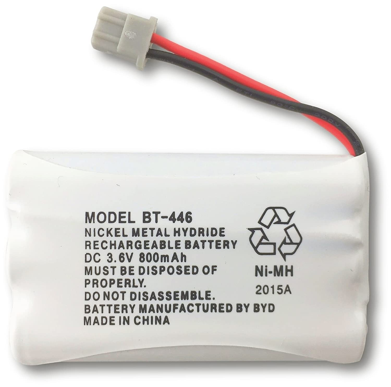 Uniden BT-446 Nickel Metal Hydride Rechargeable Cordless Phone Battery, DC 3.6V 800mAh, Genuine Uniden BT - 446