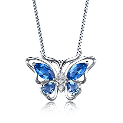 product pendant hot glass butterfly forest vintage dark blue necklace jewelry dome