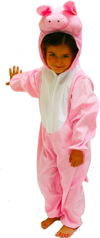 Fun Play - Disfraz de Cerdito para niños - Disfraz de Animal - Mono de una Pieza para Niños y Niñas - Disfraz para niños de 3-5 años (110cm)