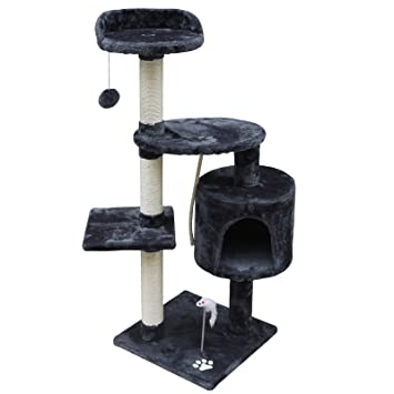 Woltu® # 663 Árbol del Gatos con caseta tiragraffi juguete escalador Parque Juegos para gato Sisal Natural 3 colores: Amazon.es: Hogar
