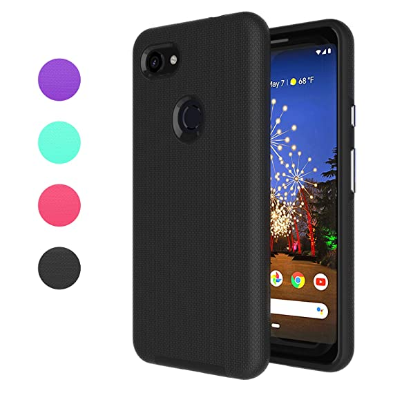 purchase cheap c820c bed3e Ownest Compatible Google Pixel 3a Case(2019) Non-Slip Anti-Fall Dual Layer  2 in 1 Hard PC TPU with Protection Thin Lightweight for Google Pixel 3a ...