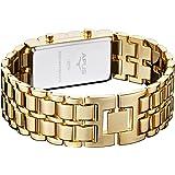 APUS Zeta Gold-Blue LED Uhr für Ihn Design Highlight