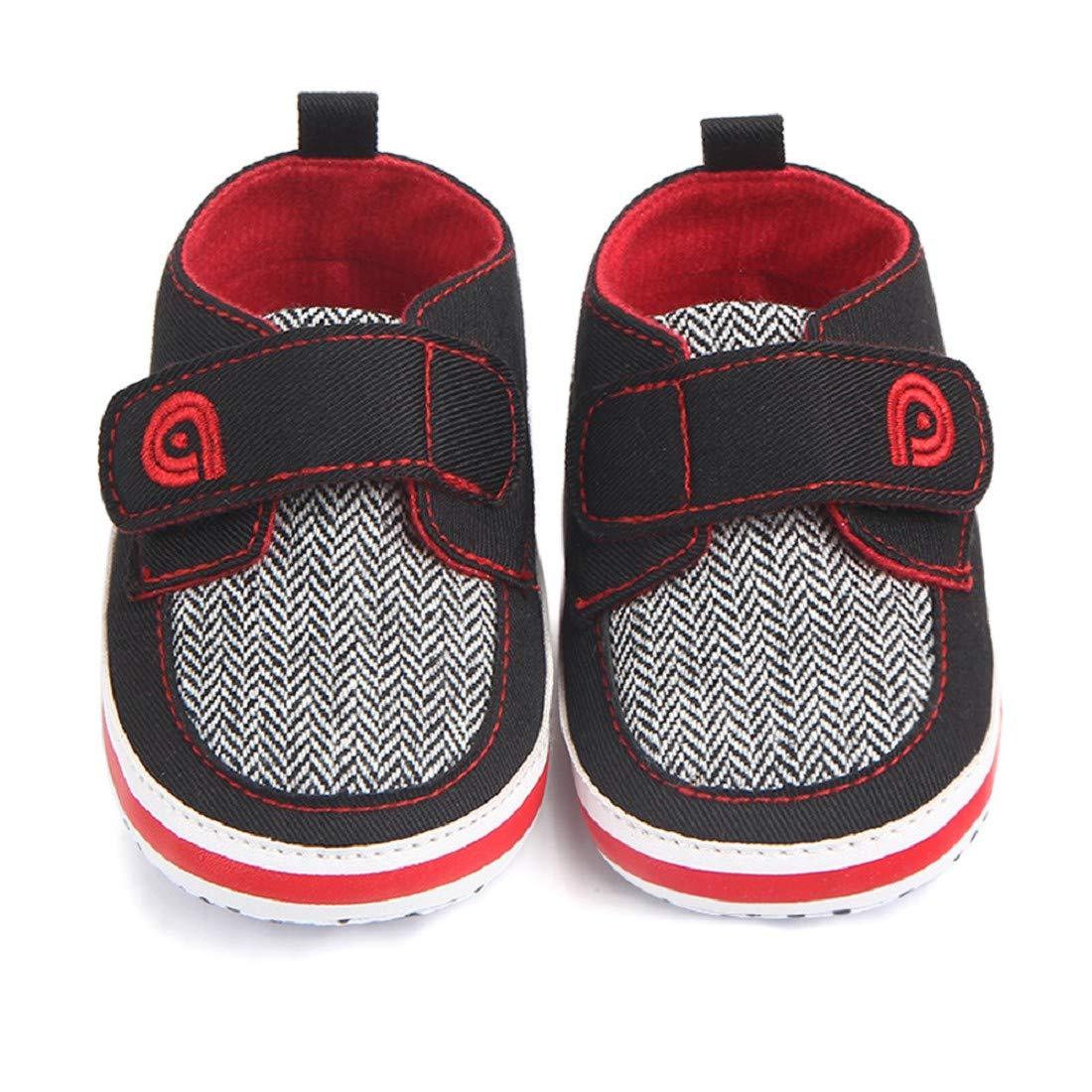 Canvas Shoes FAPIZI Newborn Infant Baby Girl Boy Print Crib Shoes Soft Sole Anti-Slip Sneakers