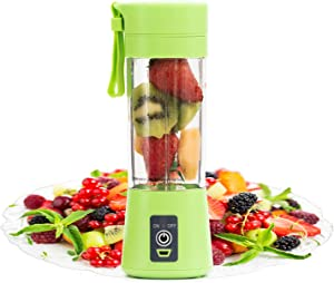 Portable Blender by FlowerIce,Personal Size Blender Juicer Cup,Smoothies and Shakes Blender,Handheld Fruit Machine,Ice Blender Mixer Home (green)