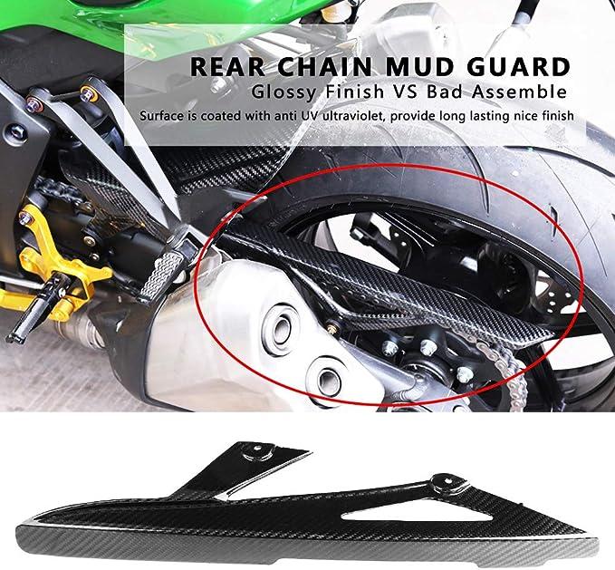 KIMISS Protezione per parafanghi in Fibra di Carbonio per Moto Leggero e Super Resistente per Kawasaki Z1000 Ninja ZX-10R