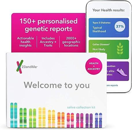 Servicio de pruebas de ADN 23andMe, incluye kit de recolección de saliva: Amazon.es: Hogar