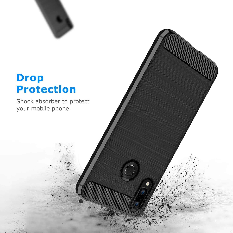 Coque-Etui-Housse-Silicone-brossee-Fibre-de-carbone-Noir-Protection-Huawei miniature 60