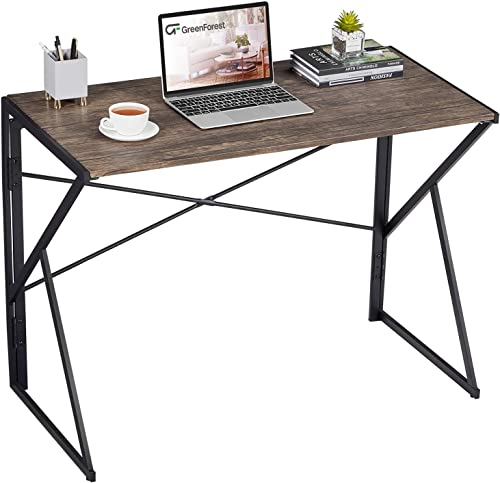 GreenForest Small Folding Desk Foldable Table Computer Desk Laptop Writing Table Space Saving