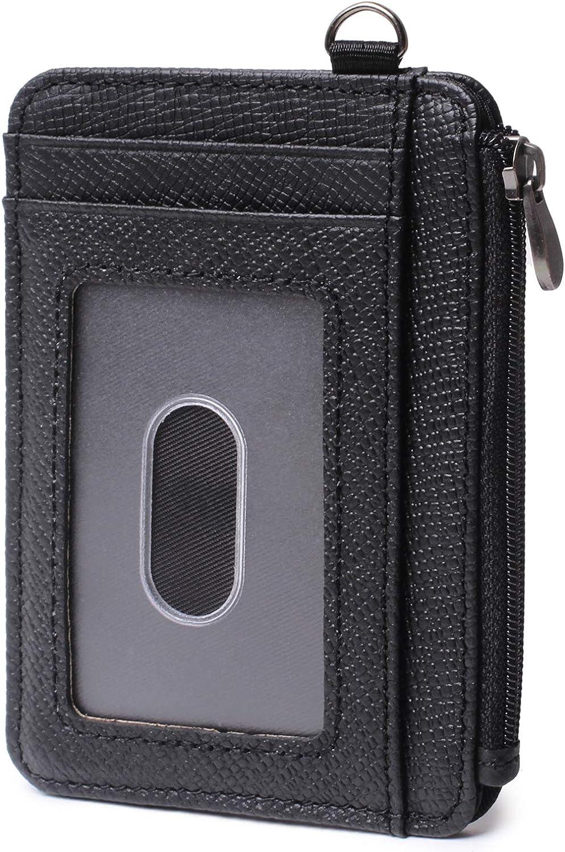 Women Men Real Leather ID Credit Card Wallet Slim Small Pocket Case Holder