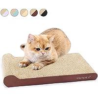 AMZNOVA Cat Scratchers Cardboard, Durable Kitty Scratching Pad, Cat Scratch Sofa Lounge with Bottom, Catnip Included, 1 Pack, Wood Floor Print