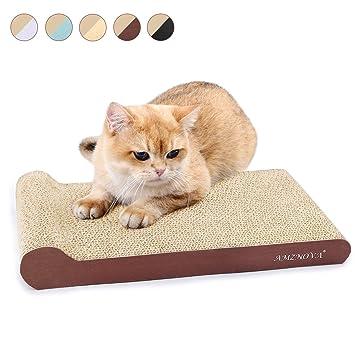 Amazon.com: AMZNOVA Rascadores de gato inclinados, cartón ...