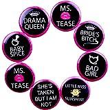 Madcaps Bachelorette Badges (Set Of 8) (Black)