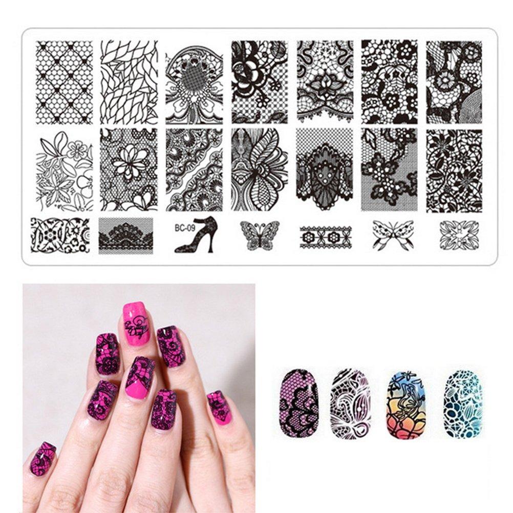 Frcolor 4pcs Nail Art Stamping Stempel Vorlagen Maniküre Platten ...