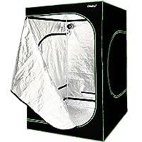 Grow Tent 200x150x150 cm OhuhuGrowzelt Growschrank Zuchtschrank Pflanze-Zelt Garten Wachstum Hydro Box für Homegrow 600D Oxford
