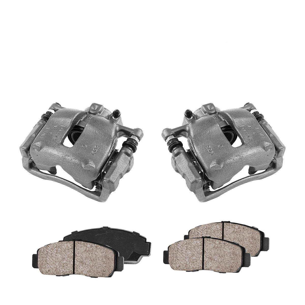 Ceramic Brake Pads Callahan CCK04053 Hardware Brake Kit FRONT Premium Loaded Original Caliper Pair 2