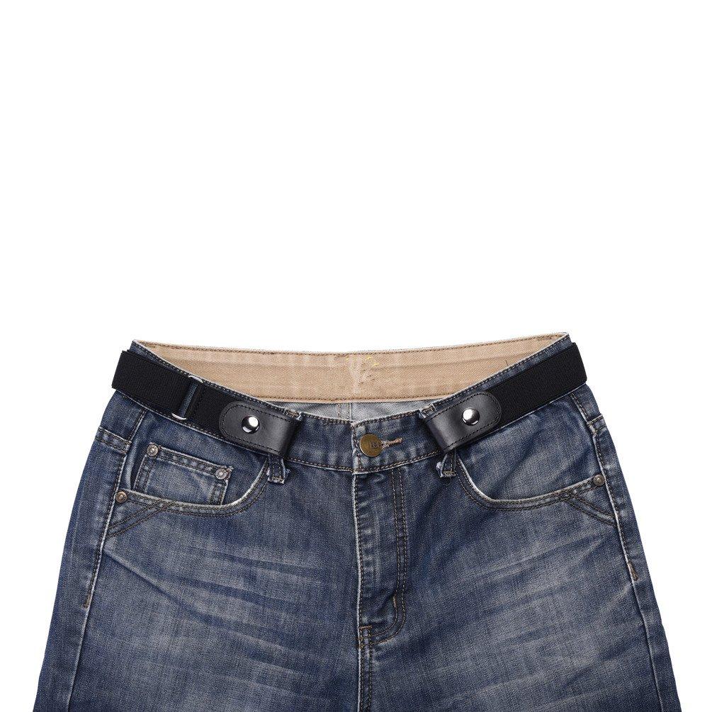 Buckle-free No Bulge Belt for Women, No Buckle and Hassle Women Free Belts (Dark)