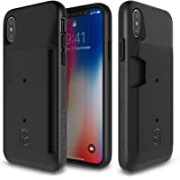 Patchworks Protective iPhone X Wallet Cover Case (Black)