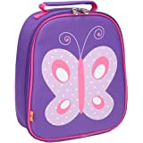 Yodo Kids Insulated Lunch Tote Bag with Name Tag for Girls Butterfly