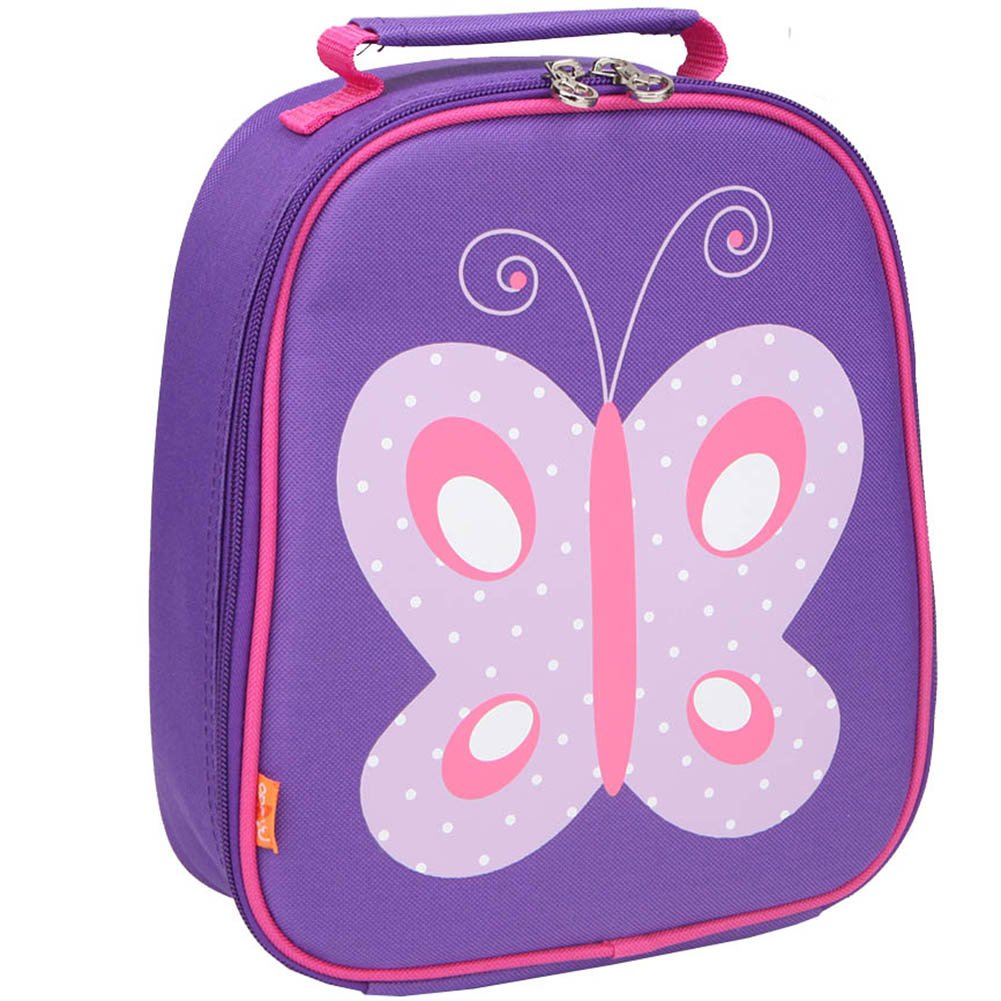 Yodo Kids Insulated Lunch Tote Bag with Name Tag for Girls, Butterfly YODO GROUP KP227019