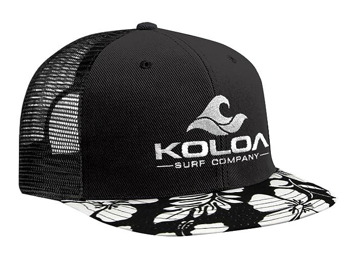 Gorra hawaiana con malla de camionero en la parte posterior. Koloa Surf (TM). Con logo blanco: Amazon.es: Ropa y accesorios