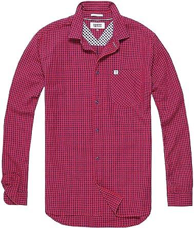 Tommy Hilfiger - Camisa Cuadro Vichy - Hombre (S): Amazon.es ...