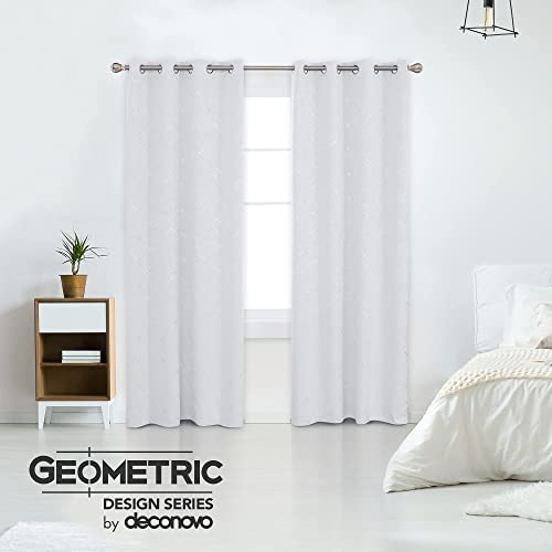 Editors' Choice: Deconovo 108 Inches Long Blackout Curtains 2 Panels Room Darkening Geometric Line Patterned Thermal Grommet Curtains
