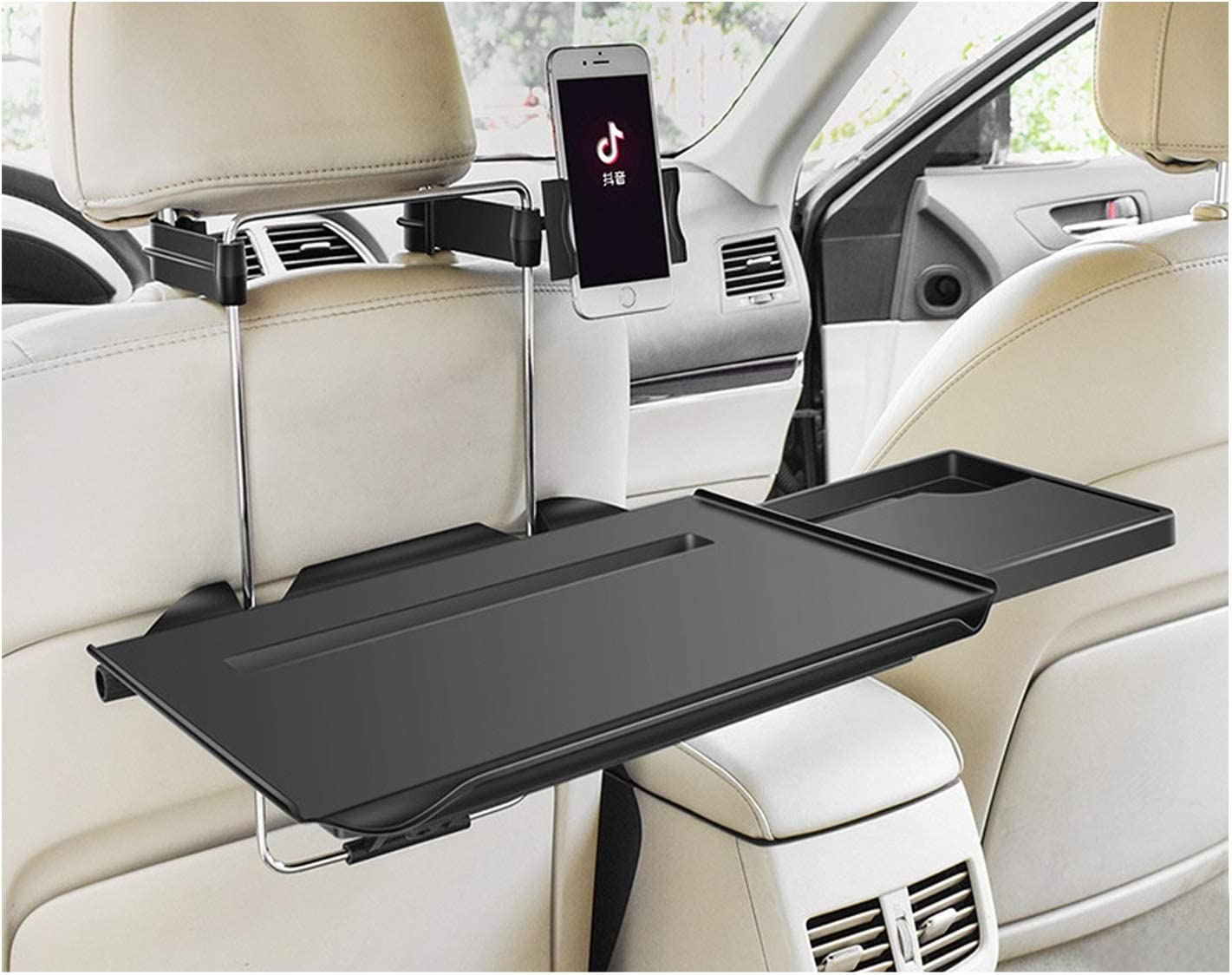 Portable Hanging Laptop Trays Car Backseat Organizer Car Laptop Desk Car Vehicle Seat Portable Mount Tray Laptop Notebook Table Foldable Car Dining Food Drink Desk Cup Holder (1)
