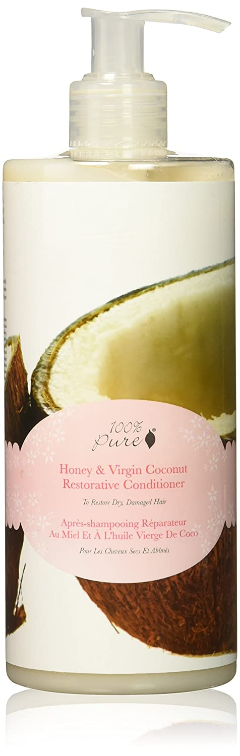 100% Pure Honey and Virgin Coconut Restorative Conditioner, 13.0 Fluid Ounce