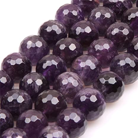 5-6MM DARK AMETHYST GEMSTONE ROUND LOOSE BEADS 16/""