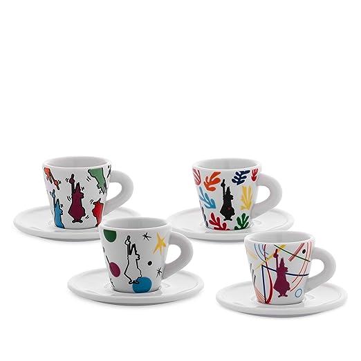 Bialetti Art Espresso - Juego de 4 tazas de café y platillos ...