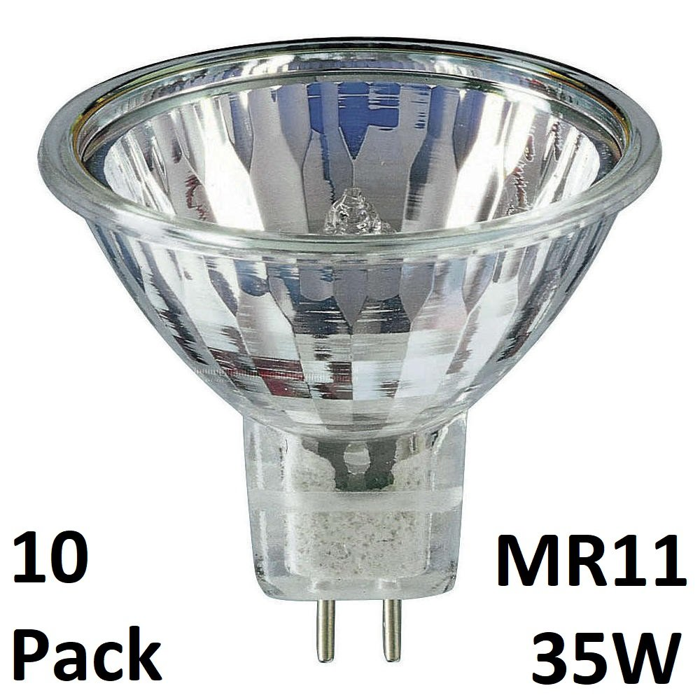 10Pack MR11 35W 12V Dimmable Dicrhoic Reflector Halogen Light Bulbs Low Voltage 12V GU4 35W - by YIFENG