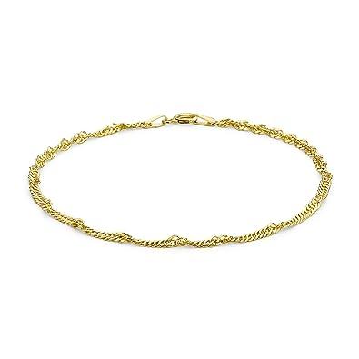 Carissima Gold Women's 9 ct Yellow Gold Diamond Cut Twist Curb Bracelet GuToE