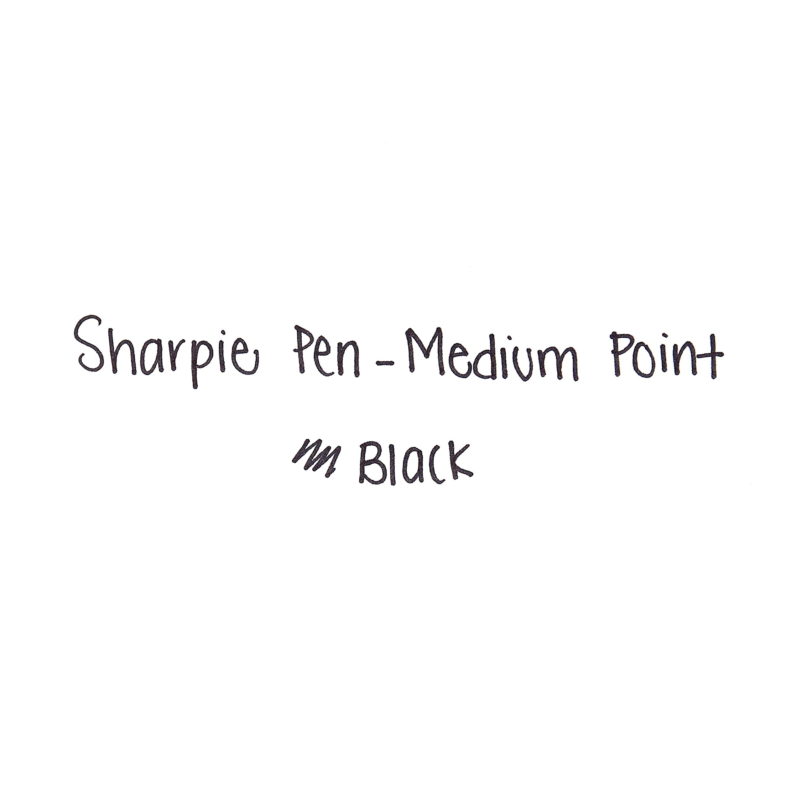 Sharpie Pens, Medium Point, Black, Box of 12 by Sharpie (Image #1)