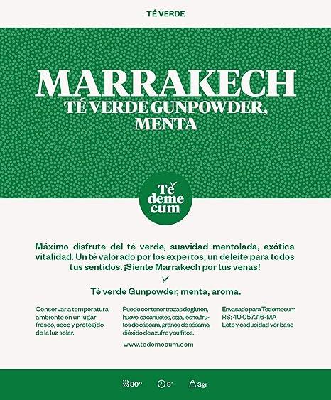 Té verde gunpowder, menta, aroma.