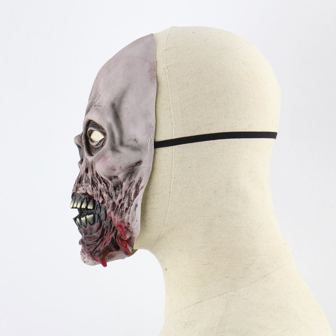 Hophen Horror Halloween Rot Face Mask Props Scary Latex Mask