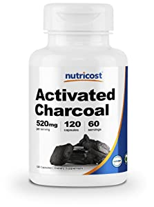 Nutricost Activated Charcoal 120 Capsules - High Quality Activated Charcoal Powder, Non-GMO, Gluten Free