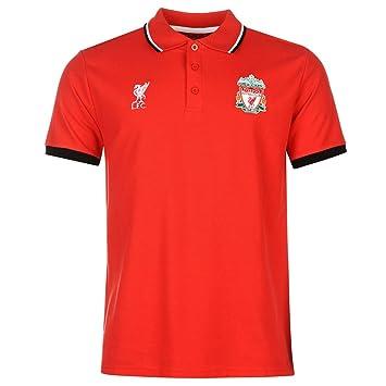 Liverpool FC Polo para hombre fuente Lab para hombre rojo fútbol fútbol Top camiseta, rojo
