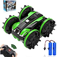 RC Car Amphibious Remote Control Car, 4WD Stunt Car Double Sided 360° Rotating Toys Car with 2 Batteries, 2.4 GHz RC…