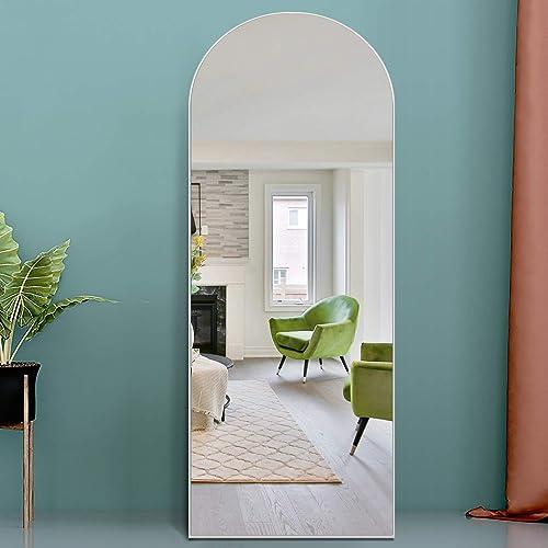 PexFix Full Length Mirror 65″x22″ Sleek Arched-Top Floor Mirror