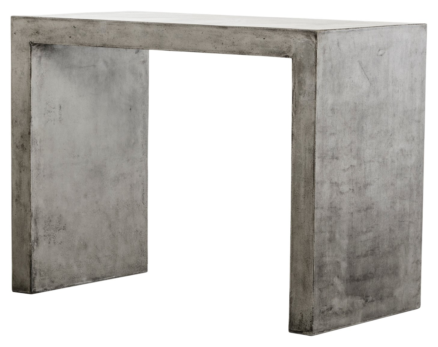 Limari Home The Malika Collection Modern Fiber Reinforced Natural Concrete Bar Table With Acrylic Sealed Finish, Gray