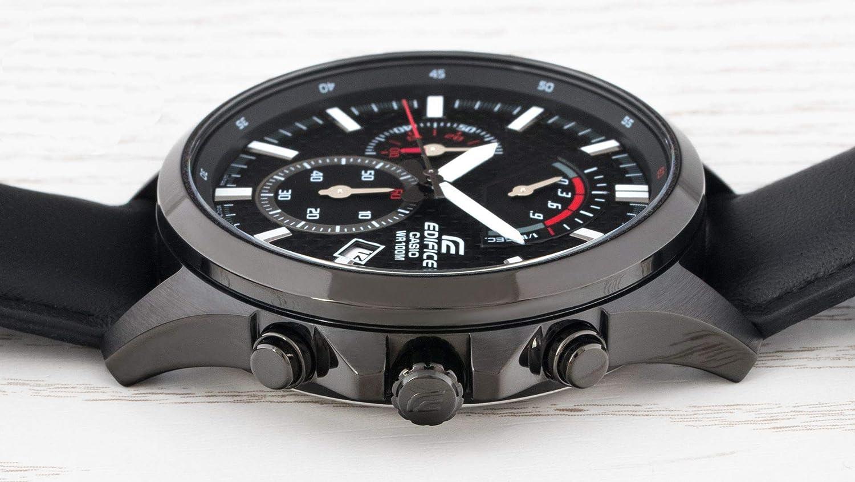 Casio Reloj Analogico para Hombre de Cuarzo con Correa en Acero Inoxidable EFV-530BL-1AVUEF: Amazon.es: Relojes