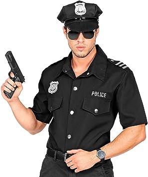 Widmann 09061 Camiseta de Policía para Adultos, Hombre, Negro, S/M , color/modelo surtido: Amazon.es: Juguetes y juegos