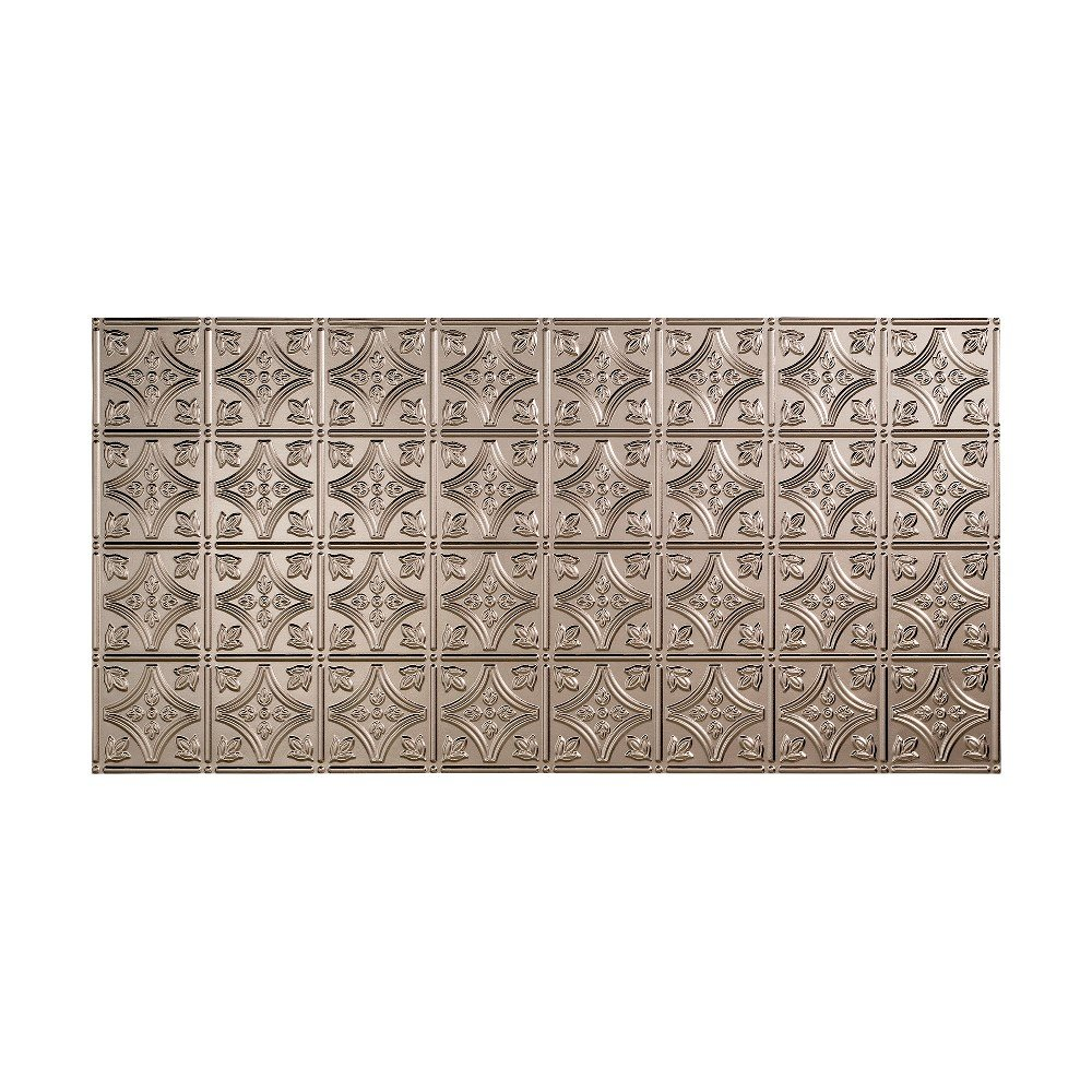 Fasade Easy Installation Traditional 1 Brushed Nickel Glue Up Ceiling Tile / Ceiling Panel (2' x 4' Panel) by FASÄDE (Image #1)